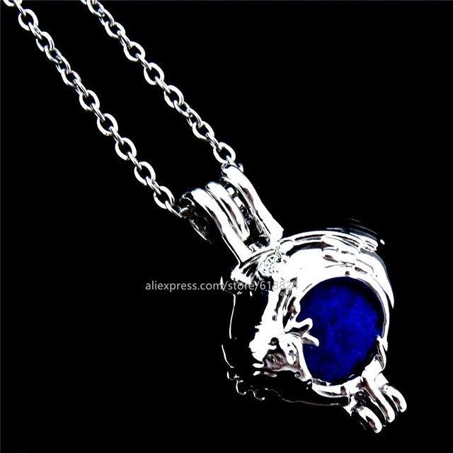 R k243 punk dragon locket necklace beads cage aromatherapy perfume r k243 punk dragon locket necklace beads cage aromatherapy perfume essential oil pendants necklaces kids aloadofball Images