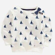 Kidst рубашки 2016 новый babys мода футболки ребенок jalor отпечатано цветочные мальчики девочки футболки дети повседневная одежда