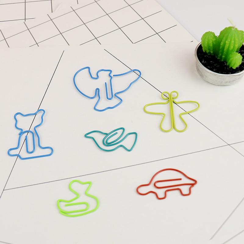 Office & School Supp. ... Office Binding Supplies ... 32799526171 ... 2 ... TUTU 30pcs/lot Cute Cartoon Animal Shape Paper Clips Creative Interesting Bookmark Clip Memo Clip Shaped Paper Clips H0006 ...