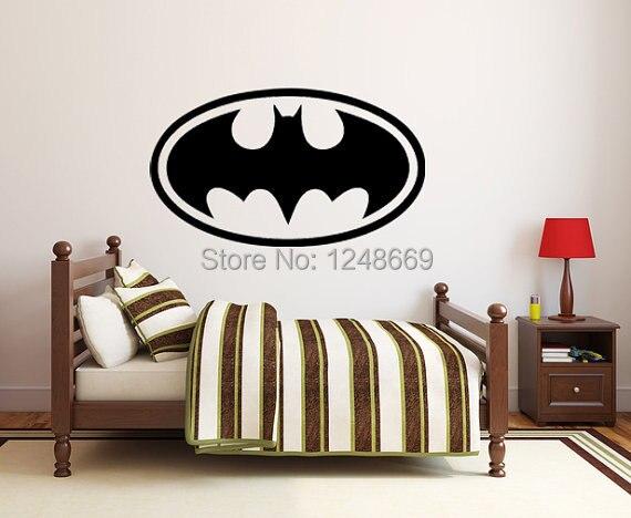Kuhle Batman Unterzeichnen Wandaufkleber Leicht Abnehmbare Wasserdichte Pvc Umwelt Schutzen Material Fur Baby Kinder Schlafzimmer Decorat In Kuhle