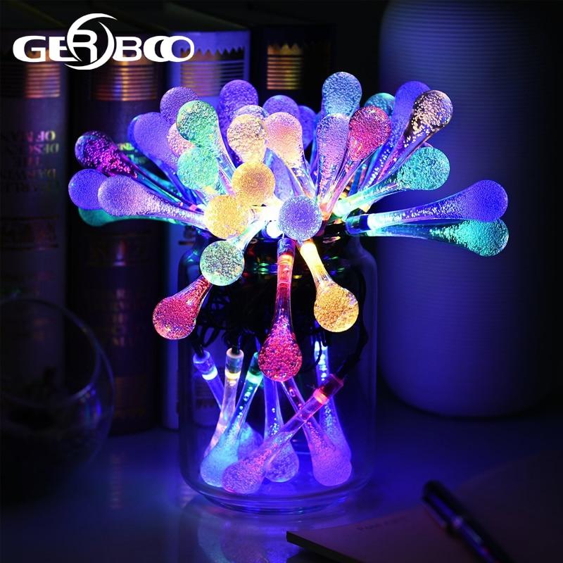Waterproof Decorative Solar Powered LED String Lights Outdoor Garden Patio  Lantern Decoration Lightings In Solar Lamps From Lights U0026 Lighting On ...