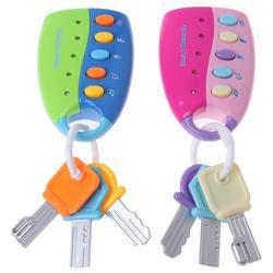 Puzzle music car игрушка-ключ Красочные флэш музыка smart дистанционное управление несколько звуков автомобиля ролевые игры Детские игрушки