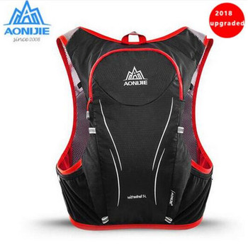 AONIJIE 5L Upgraded Women Men Marathon Hydration Vest Pack  Cycling Hiking Bag Outdoor Sport Running Backpack недорого