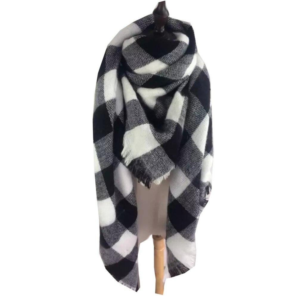 Black White Checker Scarf | Blanket Scarves