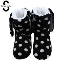 Senza Fretta Sapatas Das Mulheres Inverno Quente Macio Interior Foor Sapatos Ankle Boots Para As Mulheres Mulheres botas de Inverno Botas de Algodão Bonito femininas