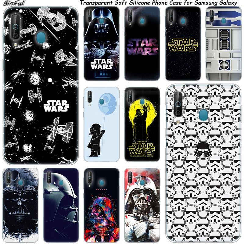 Star Wars Silicone Phone Case For <font><b>Samsung</b></font> <font><b>Galaxy</b></font> A80 A70 A60 A50 A40 A40S A30 <font><b>A20E</b></font> A2CORE M40 Note 10 Plus 9 8 5 Fashion Cover image