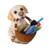 Cute cartoon dog home desktop storage box Fun Pug Dog Chihuahua Resin craft ornaments storage box