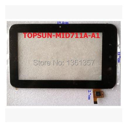 Новый 7 дюймов tablet емкостной сенсорный экран TOPSUN_MID711A_A1 бесплатная доставка
