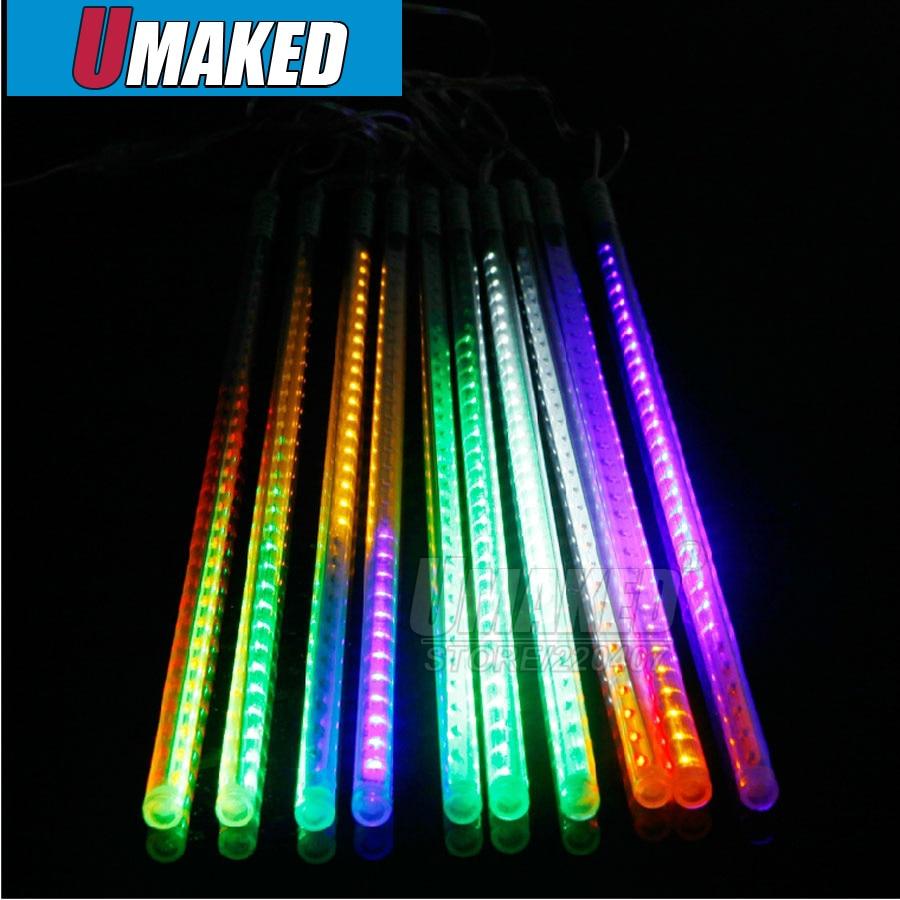10 tubes/ensemble 50 cm SMD3528 78 LED s/tube 220 V/110 V LED chute de neige, LED lumière de noël, tube de pluie étanche, tube de météore LED