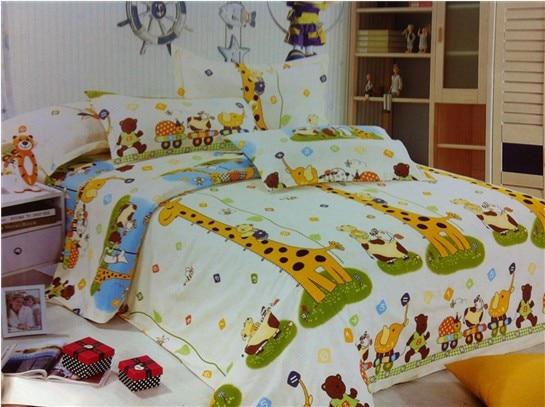 Deer Giraffe Bedding Set Twin Full Queen Size For Kids