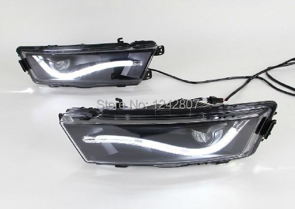 Автомобиль-специальный Шкода Рапид 2013, 2014 СИД DRL дневного света, противотуманные лампы супер яркий путеводный свет прочный точной установки
