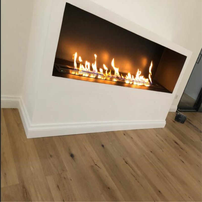 72 Inch Intelligent Smart Real Flame Wifi Bioethanol Fireplace Remote Control