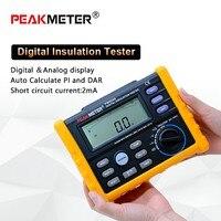 PEAKMETER Analog and Digital 2500V MS5205 Insulation Resistance Tester megger meter 0.01~100G Ohm with Multimeter