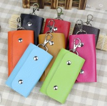 Fashion New Style Pu Leather Quality Solid Colors Keychain Car Housekeeper Holders font b Key b