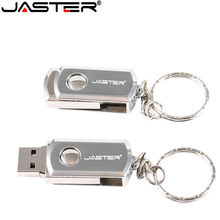 JASTER USB memory stick 2.0 GB флешка 8 4GB 16GB pendrive de 128GB usb flash drive pen drive de alta velocidade ratating USB stick chave anel