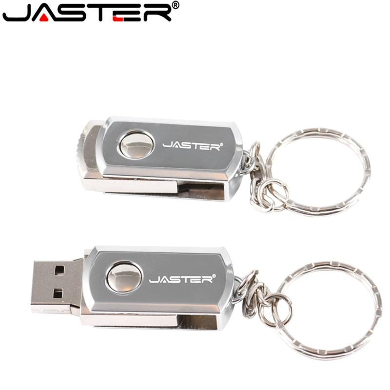 JASTER USB 2.0 Memory Stick 4GB 16GB Pendrive 32GB 64GB 128GB Usb Flash Drive High Speed Pen Drive Ratating USB Stick Key Ring
