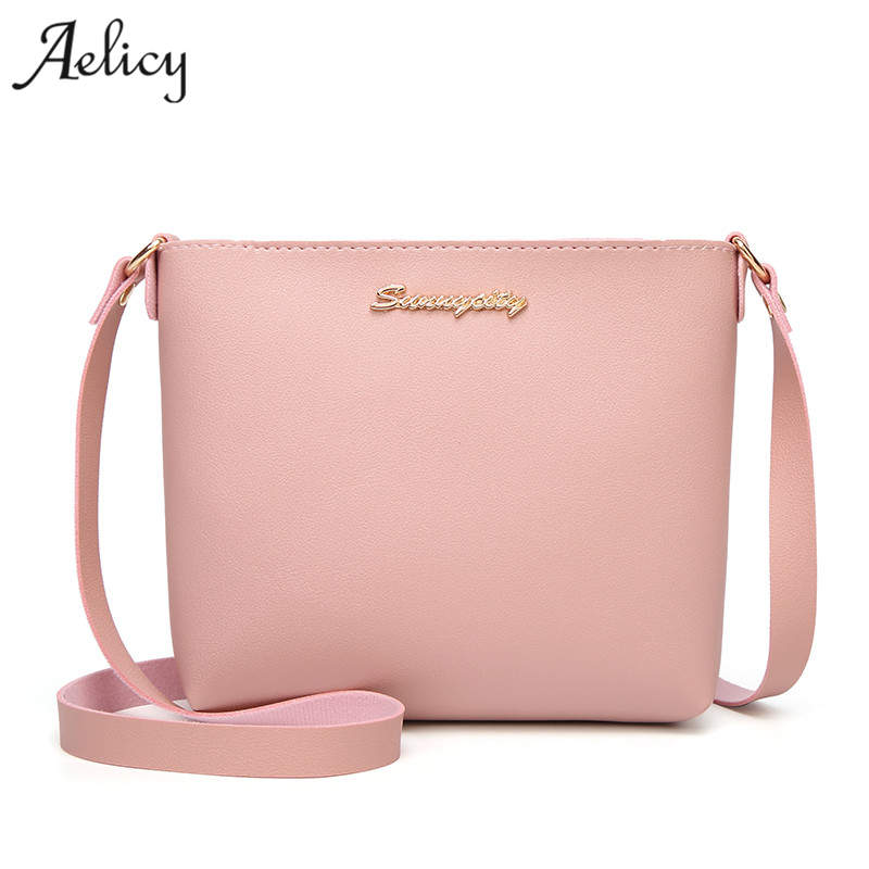 Aelicy Solid Color Women Crossbody Bag Small Messenger Mini Shoulder Bags Designer Brand Handbags Evening Purse Party Bags