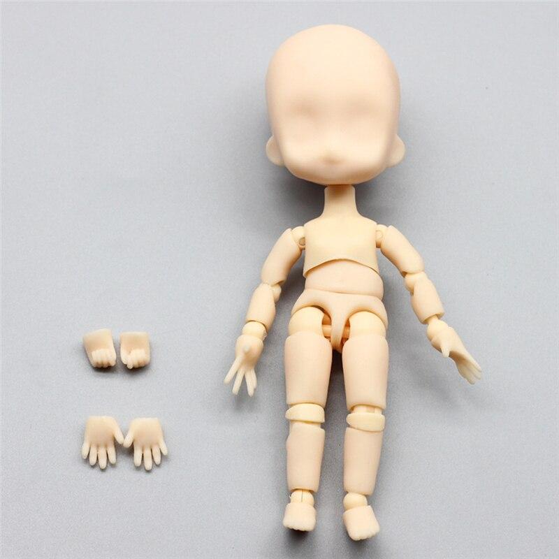 1 шт. 1/12 Bjd куклы подвижные шарнирные макияж кукла DIY голой лицо куклы Подарки Игрушки для девочек ...