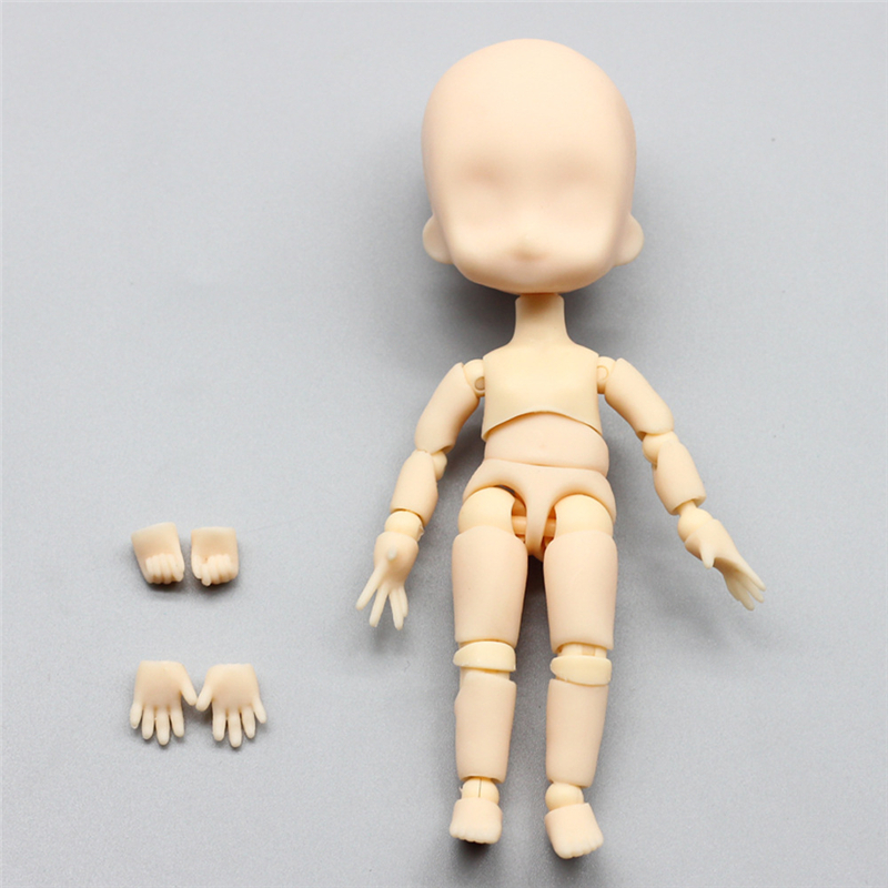 1 Pcs 1/12 Bjd Doll Moveable Jointed Makeup Doll DIY Bare Face Doll Gifts Toys F