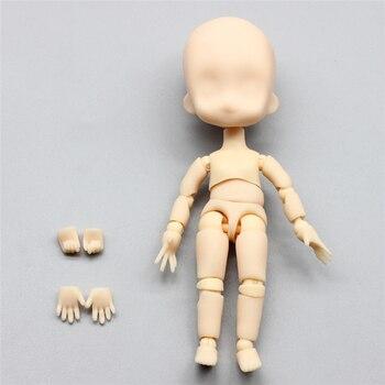 1 pièces 1/12 Bjd poupée mobile articulée maquillage poupée bricolage visage nu poupée cadeaux jouets pour les filles