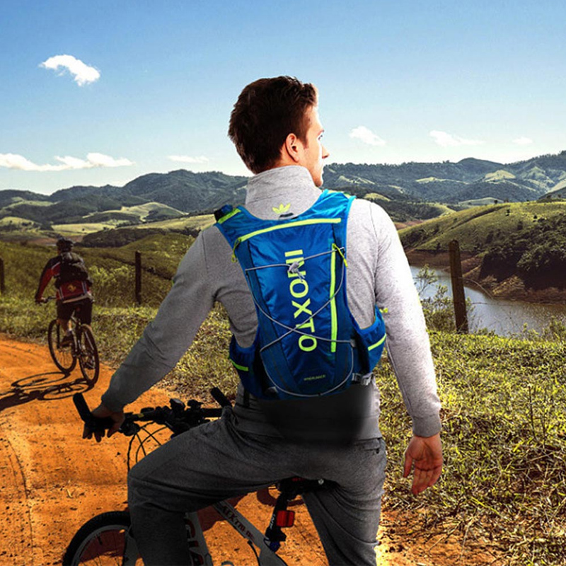 Купить с кэшбэком 10L Running Hydration Vest Backpack Men Women Bicycle Outdoor Sport Bags Trail Marathon Jogging Cycling Hiking Backpack