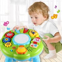 Baby Music Learning Table Multifunctional Game Table for toddlers with Colorful Light Sound Early Educational Toys for Kids Baby