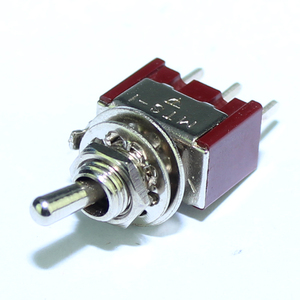 Image 3 - 100 قطعة MTS 102 C2 PCB تبديل التبديل 6 مللي متر 3A 250VAC 6A 125VAC 3 دبوس SPDT على اللون الأحمر مع المحرك القصير ومحطة PCB