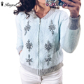 2017 New Fashion Autumn Winter Warm Mink Cashmere Cardigan Sweaters Women Long Sleeve Casual Loose Sweater Knitted Tops