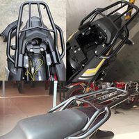 Motorcycle Black Stainless Steel Rear Tailstock Travel Rack Shelves Luggage Rack for Yamaha Fazer 250