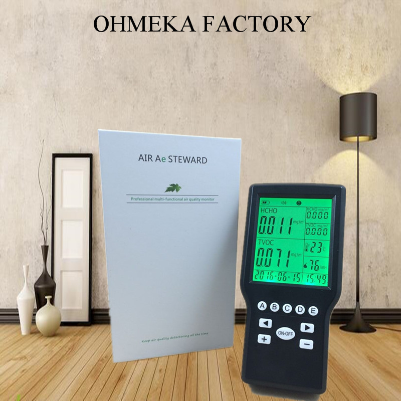 multi function indoor air quality monitor desktop TVOC Detector/ HCHO Detector/Formaldehyde detector tvoc air quality monitor indoor smart formaldehyde air quality detector