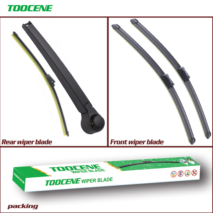 Front And Rear Wiper Blades For Volkswagen <font><b>Tiguan</b></font> 2007-2016 High Quality Rubber Windscreen Car Accessories 24+21+13 image