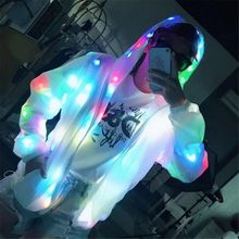 Good Quality New LED Jacket Light Up Outwear Stage Costume Full Focus Night Running Motorcycles Cycling Clothings Bar Pub