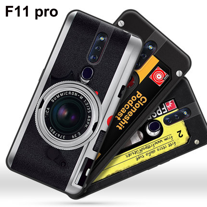 For <font><b>OPPO</b></font> <font><b>F11</b></font> <font><b>pro</b></font> Case retro camera Silicone painted Back Cover <font><b>Phone</b></font> Case For <font><b>OPPO</b></font> F11pro Soft TPU Case OPPOF11 <font><b>pro</b></font> shell coque image