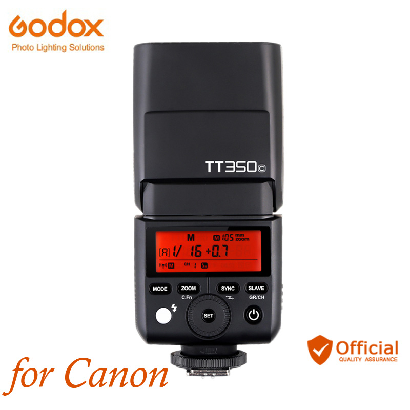 Godox TT350C Mini 2.4G Wireless HHS TTL Camera Flash for Canon 70d 80d 6d 5d mark iii 100d 1200d 500d 550d 600d 650d 700d 750d camera 2 5x lcd screen viewfinder magnifier loupe for canon 500d 550d 600d 650d 700d 750d 6d 60d 7d 70d 5d 5dii 5d3 100d 1200d
