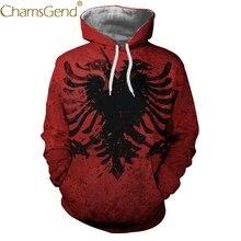 a6891e79579c Nuevo diseño de águila tatuaje rojo impresión sudaderas para hombres y  mujeres parejas de invierno abrigo mujer bolsillo Sudader.