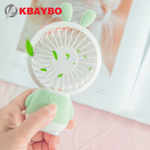 Mini USB Fan Portable Hand Fan with LED night light Battery Operated USB Power Handheld Fan Cooler Electric Laptop Fan for home(China)