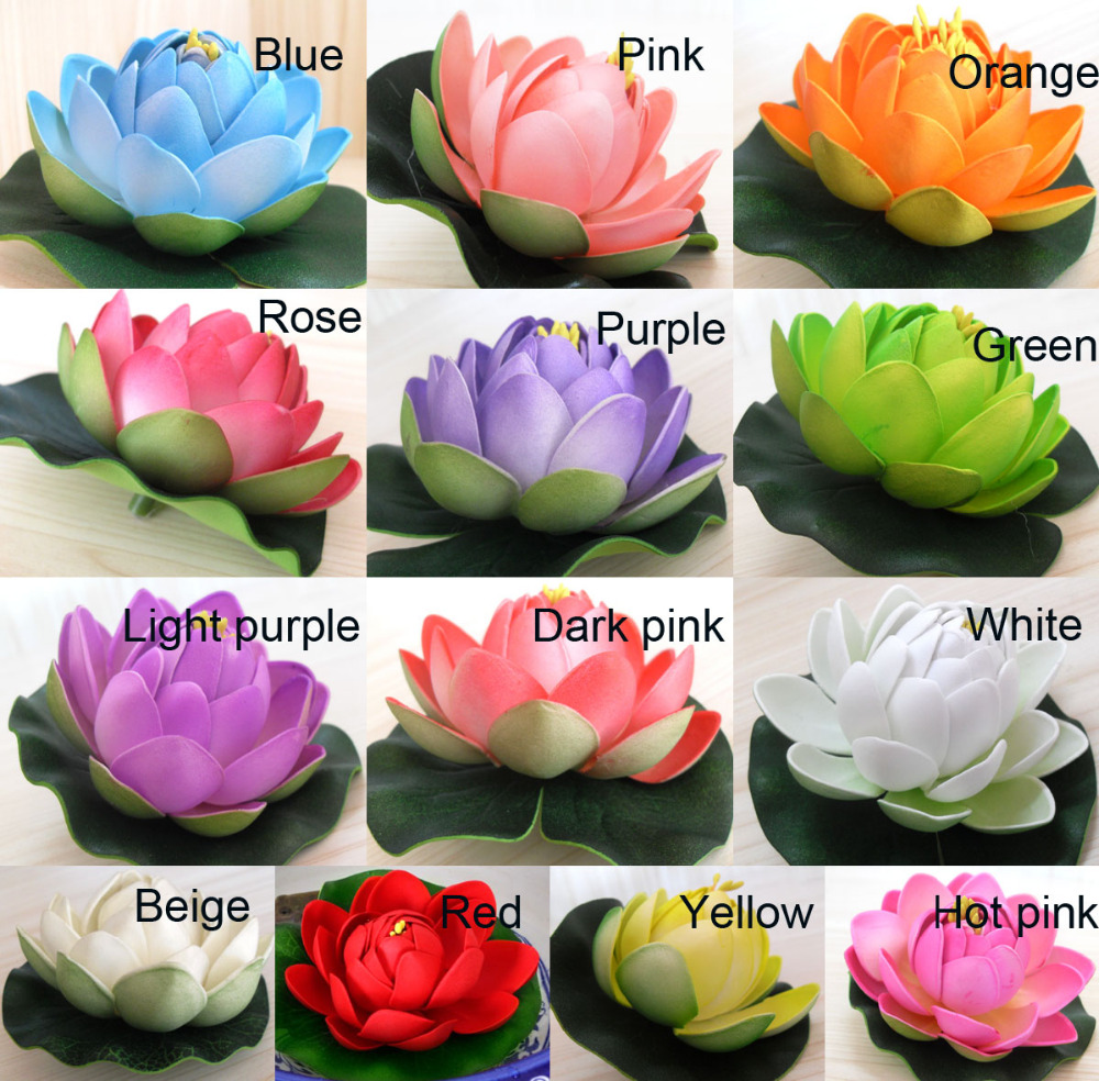 Compare prices on silk lotus bud online shoppingbuy low price 10 pcs artificial fake lotus flowers buds leaves water lilies floating pool plants wedding decoration c97 dhlflorist Image collections