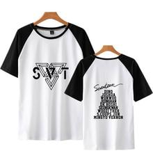 LUCKYFRIDAYF Kpop SEVENTEEN Fashion Summer Short Sleeve Cool Popular Kpop T-shirts Funny Men/Women Summer T Shirts Tops Tee 4XL цена