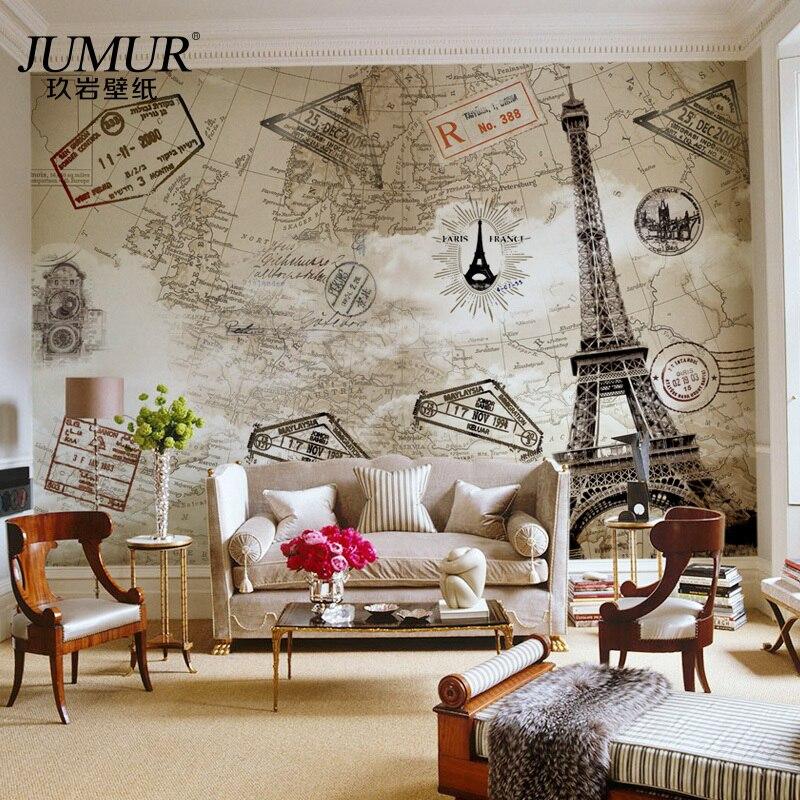 paris living room wallpaper
