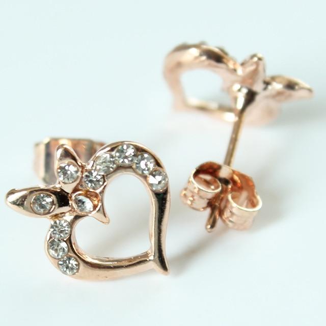 Fashion Evil Eye Heart Crystal Stud Earrings For Women Girls Brand Jewelry Brincos Pendientes Mujer Moda Joyeria Marcas Famosas 3