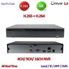 Best price ONVIF 2.4 DVR 16/9/4CH H.265 P2P 4 Channel DVR Network NVR Hi3798 digital video recorder for cctv 4K 8/6/5/4/3/2MP IP camera