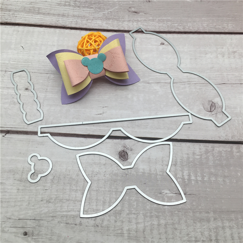 DIY Bow steel Cutting Dies Stencil Craft for DIY Creative Scrapbook Cut Stamps Dies Embossing Paper Birthday Card 15 2X12 2cm in Cutting Dies from Home Garden