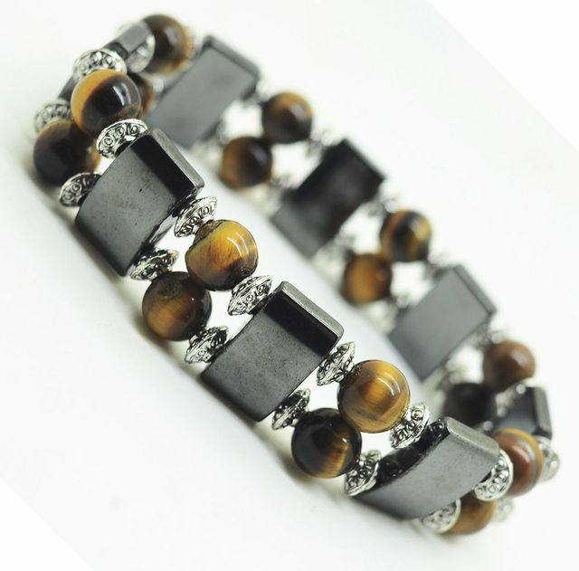 Health Care Magnetic Hematite Stretch Bracelet