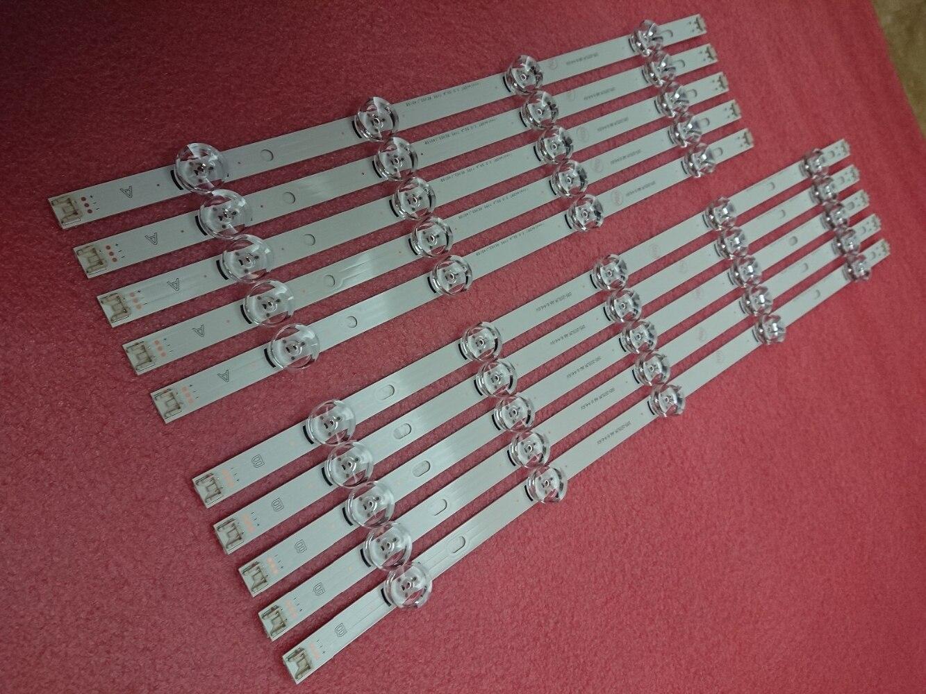 New 10pcs LED backlight strip Replacement for LG 50LB5610 50LB650V 50LB653V 50LF5800 6916L 1978A 1779A 1983A