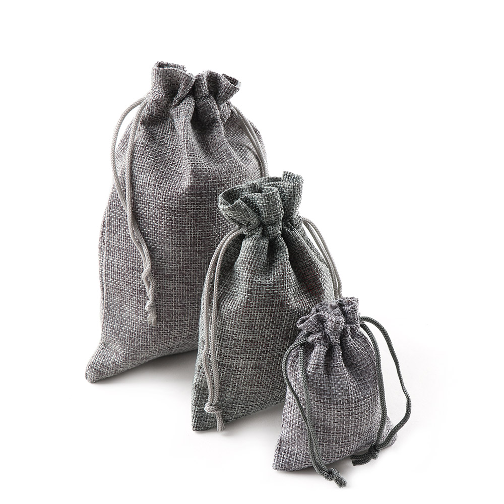Image 4 - 10PCS Christmas Linen Jute Drawstring Gift Bags Sacks Wedding Birthday Party Favors Drawstring Gift Bags Baby Shower Supplies-in Gift Bags & Wrapping Supplies from Home & Garden