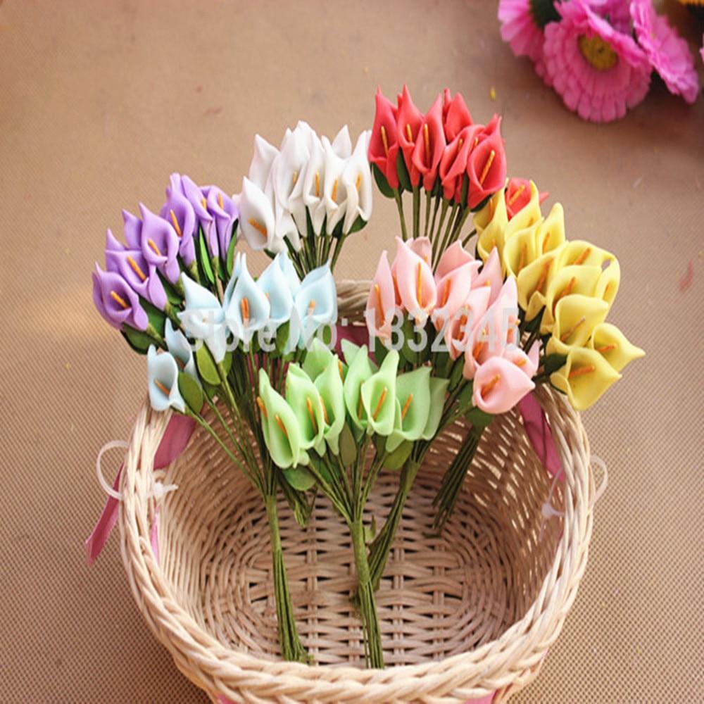GroßZüGig Freies Verschiffen 12 Teile/los Künstliche Pe Mini Blumen Kleine Calla Party Hochzeit Hause Dekoration Blumen Verkaufspreis Künstliche Dekorationen Haus & Garten