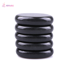 Free shipping 1 pack=5pcs Natrual hot spa black  basalt stone massage