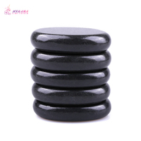 HIMABM 5 Pieces SPA Hot Stone Massage Basalt Rocks Basalt Stone Oval Shape New Mini set Cold Lava Natural Therapy 6*8cm