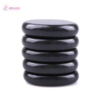 HIMABM 5 Pieces SPA Hot Stone Massage Basalt Rocks Basalt Stone Oval Shape New Mini set Cold Lava Natural Therapy 6*8cm