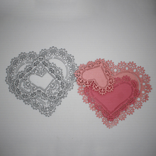 3 Pcs Hollow lace heart Metal Cutting Dies DIY Scrapbooking Album Paper Cards Embossing Crafts 100*85 mm/134*138 mm